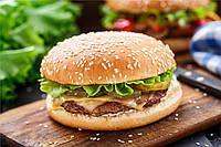 Куриная котлета для гамбургера. Запеченная.