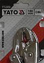 Изогнутые ручные клещи струбцина  YATO, фото 3