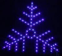 """Новогодняя светодиодная снежинка """"Пушинка"""""""