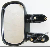 Дзеркало лiве чорне Fiat Doblo (2000-2016) тросикове регулювання