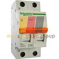Автоматичний вимикач ВА63 1п+н 25А С
