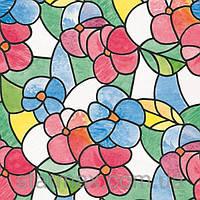 Самоклейка, цветная, цветы, яркая,  витражная для стекол, GEKKOFIX 67,5 cm