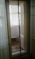 Антимоскитная сетка (штора) на магнитах дверная 120*210 коричневая, фото 1