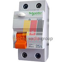 Диференційний вимикач навантаження ВД63 2П 25А 30мА