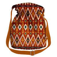 Сумка-торба с цветным орнаментом