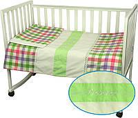 Постельное белье в кроватку ПРОВАНС с кружевом Руно