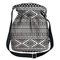 Сумка-торба с чёрно-белым орнаментом