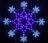"""Новогодняя светодиодная снежинка """"Хрустальная"""""""