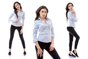 Рубашка широкая полоска, фото 2