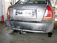 Оцинкованный фаркоп на Hyundai Accent 2006- Быстросъемное крепление