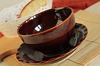 Глубокая коричневая пиала
