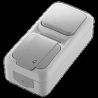 VIKO Palmiye Блок выключатель + розетка с заземлением
