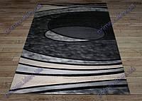 """Синтетический ковер Фестивал Стайл """"Тайфун"""" рельефный, цвет черный антрацит"""
