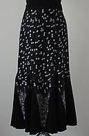 Женские юбка Годе трикотаж 8-клинка Ромашка