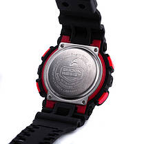 Спортивные наручные часы Casio G-Shock ga-100 Black-Red Касио реплика, фото 3