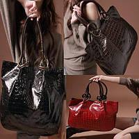 Модная новинка! Лаковая женская сумка.