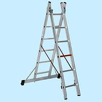 Стремянка двухсекционная алюминиевая VIRASTAR 2x8 ступеней (4.12 м)
