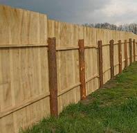 Готовый забор под ключ (неокрашенный) деревянный