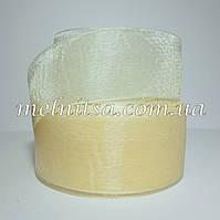 Лента из органзы , 4 см, цвет кремовый