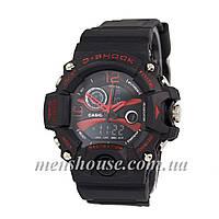 Бюджетные часы G-Shock Triple Sensor Black/Red
