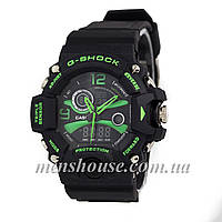 Бюджетные часы G-Shock Triple Sensor Black/Green