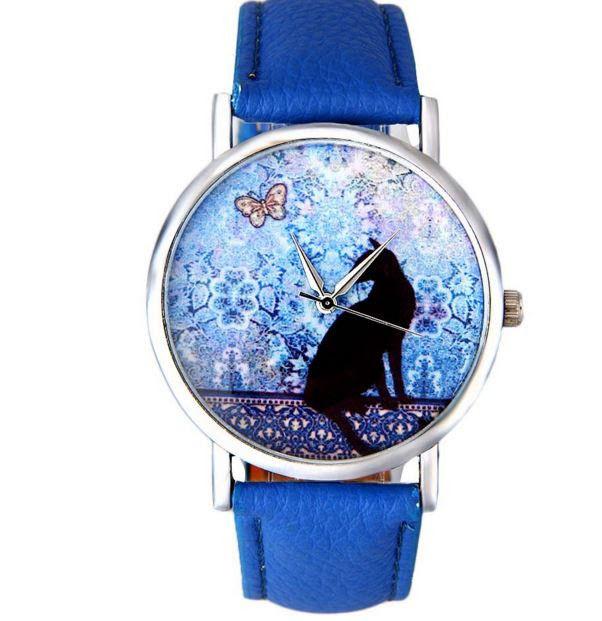 Часы женские с изображением кота