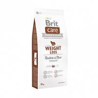 Гипоаллергенный корм для взрослых собак с избыточным весом всех пород. Brit Care Weight Loss, 3 кг