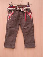 """Модные котоновые брюки в мелкую полоску с отделкой """"Britain"""" 92-128р. В остатке 92,98р."""