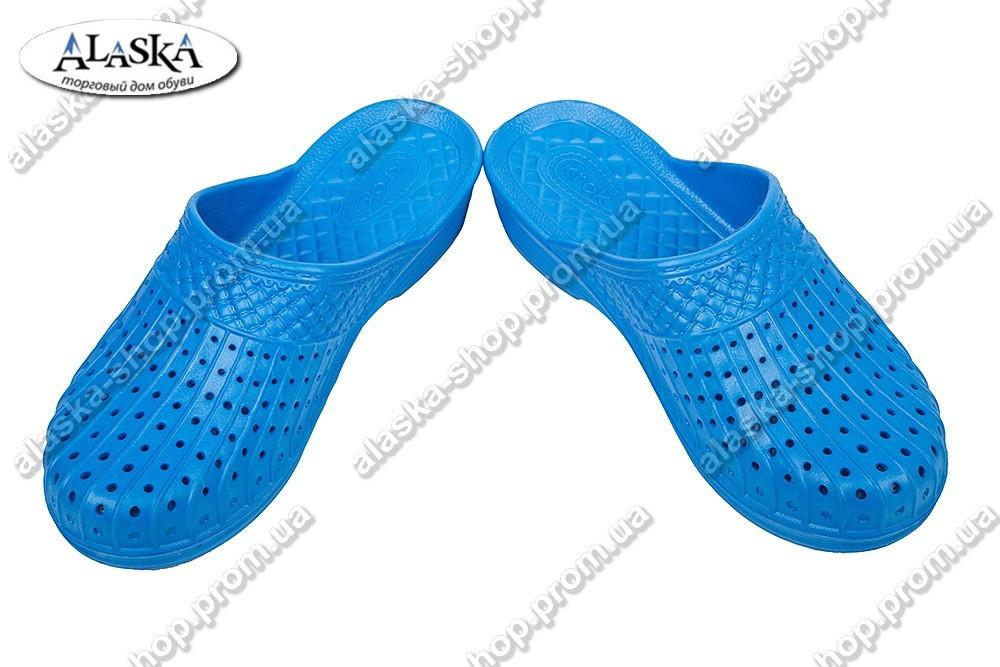 Женские шлепанцы синие (Код: С-45 КРОК)