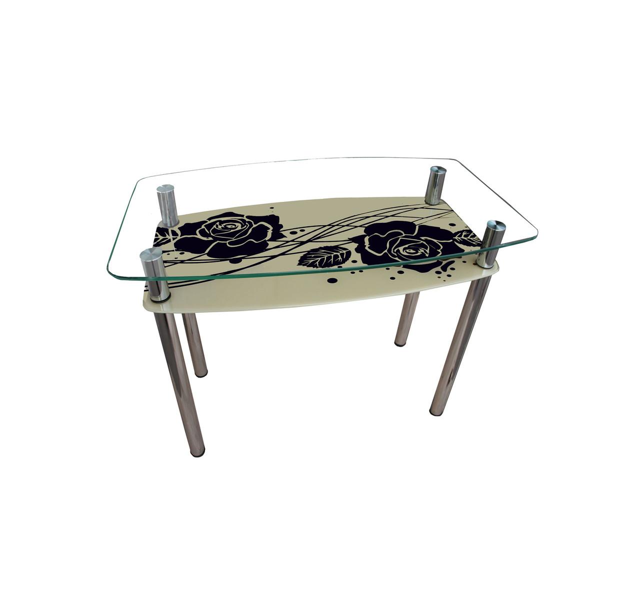 Обеденный стол стеклянный Камелия