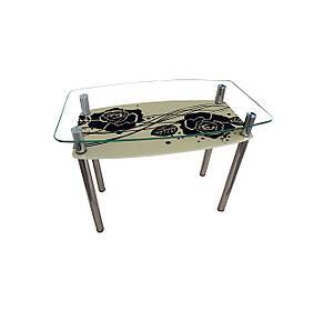 Обеденный стол стеклянный Камелия, фото 2