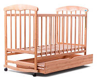 Кроватка детская  НАТАЛКА С ЯЩИКОМ (ОЛЬХА) СВЕТЛАЯ 20007