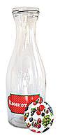 Бутылка стеклянная для напитков  Компот 1л.