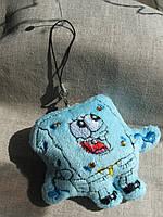 "Брелок ""Спанч Боб"" мягкий   для телефона и флешки   длина с ниткой  13,0  см."