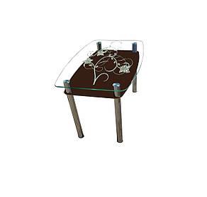 Стол обеденный стеклянный Шоколад, фото 2