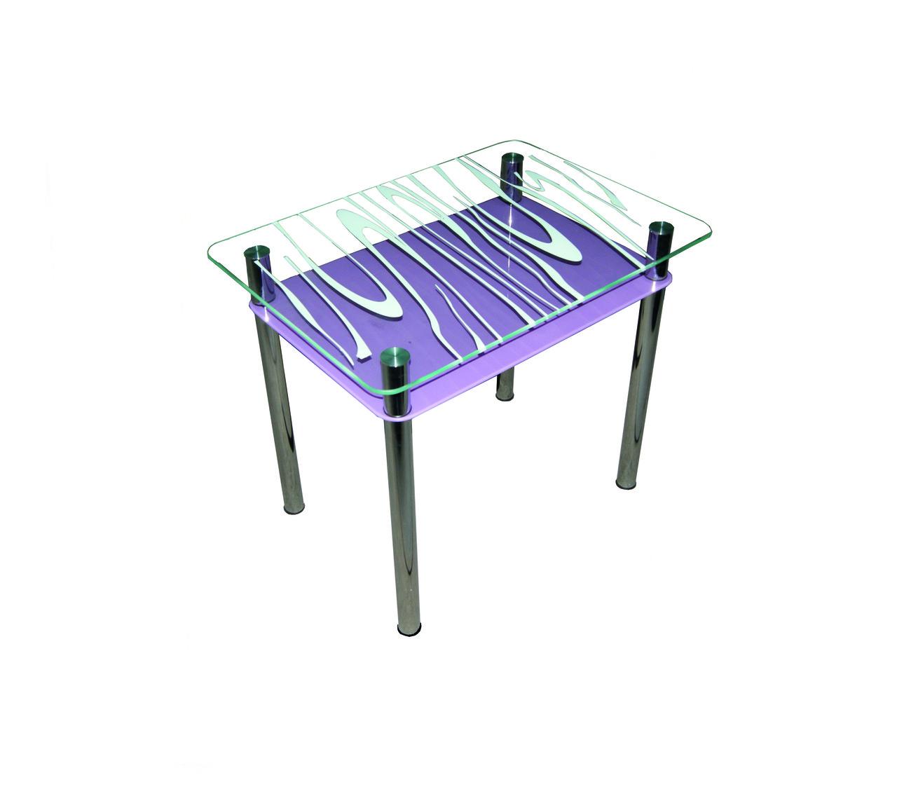 Стол обеденный стеклянный Бриз