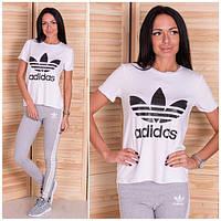 """Женский костюм для фитнеса """"Adidas"""" белый OS-240"""