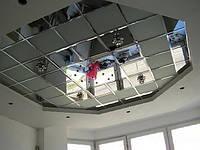 Зеркальный потолок в ванной комнате 600х600