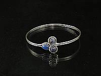 Браслет индийский, серебряный из лазурита (24), фото 1