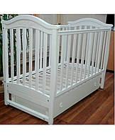 Верес Ліжко дитяче Соня ЛД3 білий різьблення маятник з шухлядою