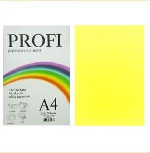 """Бумага цветная """"PROFI"""" А4. 155-160 г\м2  насыщенный желтый DEEP YELLOW 250 листов"""