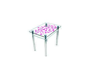 Стол обеденный стеклянный Простор, фото 2