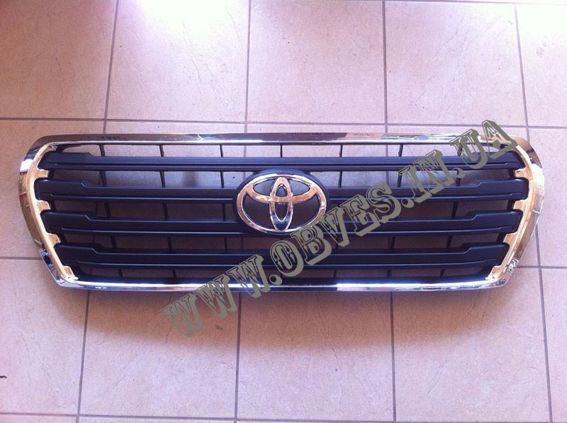 Решетка радиатора Toyota Land Cruiser 200 (черная), фото 1
