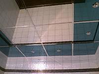 Зеркальный подвесной потолок в ванной 600х600