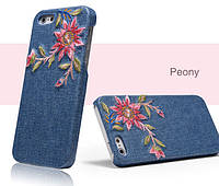 Чехол - бампер Ueme Jeans для Apple iPhone 5 / 5S / 5SE - Peony