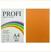 """Бумага цветная """"PROFI"""" А4. 155-160г\м2  неон оранжевый CYBER ORANGE 250 листов, фото 1"""