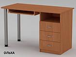 Стол компьютерный СКМ-9 для пк и ноутбука, с выдвижными ящиками, фото 6