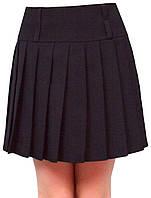 Юбка детская школьная м-408 рост 134 140 146 152 и 158 черная, фото 1