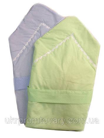 Новые в упаковке, распродажа. Конверт - одеяло голубой, фото 2