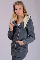 Теплая трикотажная куртка женская Косуха